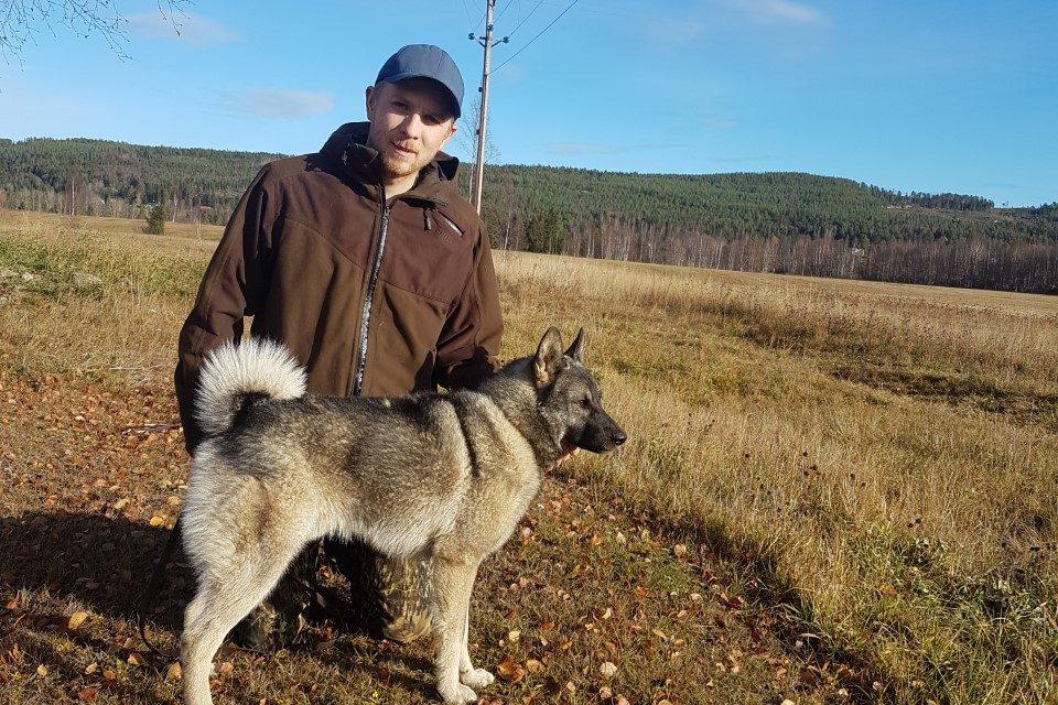 Vinnare av Svenska Gråhundklubbens Ungdomsmästerskap 2018, Fredrik Linné med Helagens CW-Sappo!